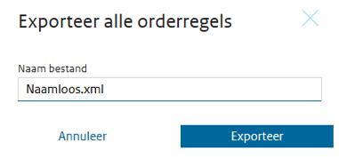 E-CertNL exporteer alle orderregels