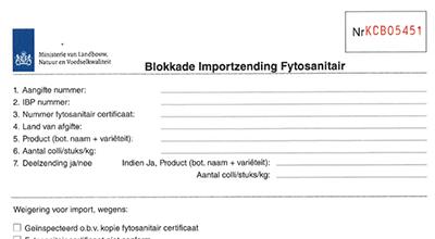 Blokkade-import