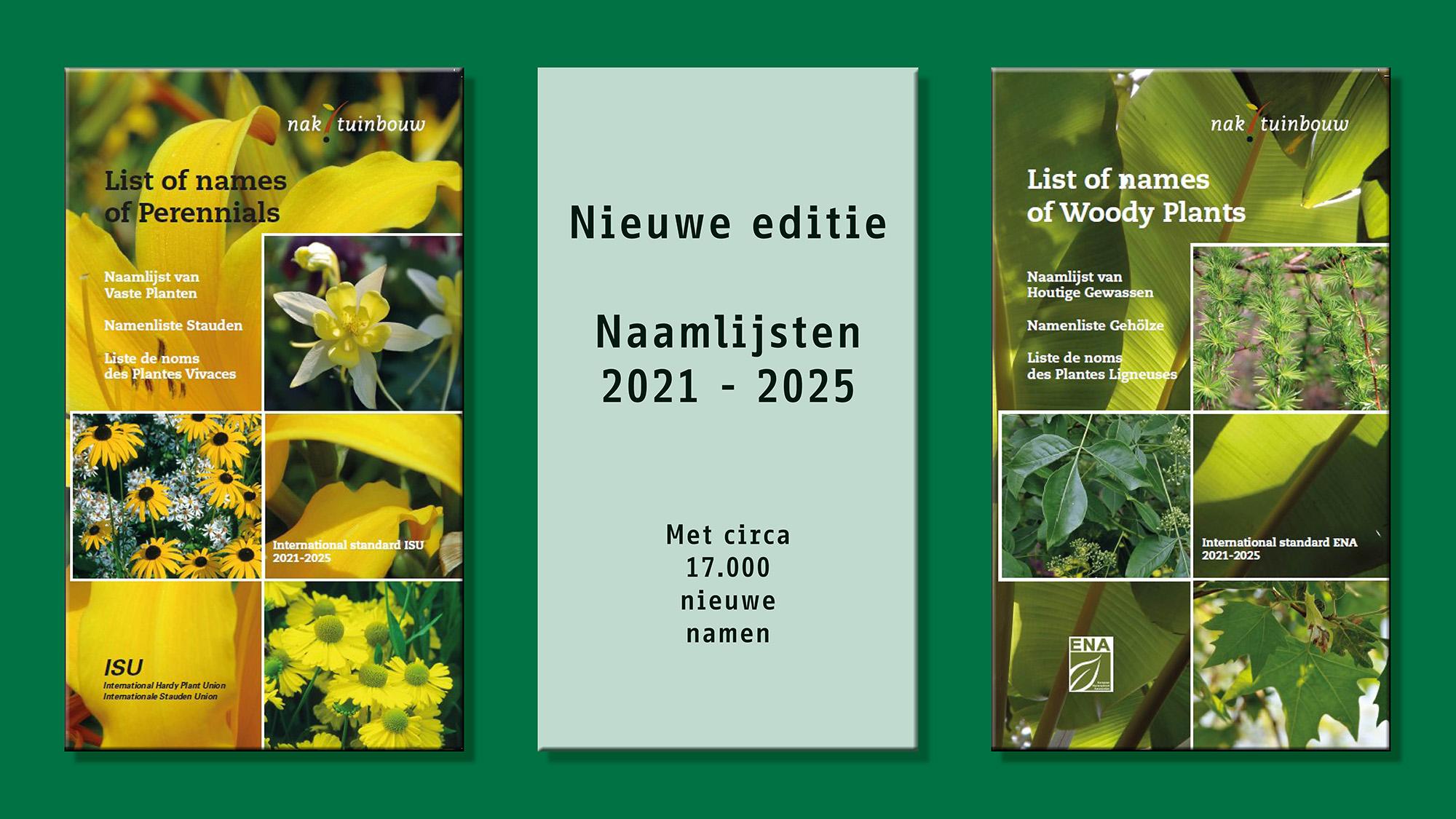 Nieuwe editie Naamlijsten houtige gewassen en vaste planten